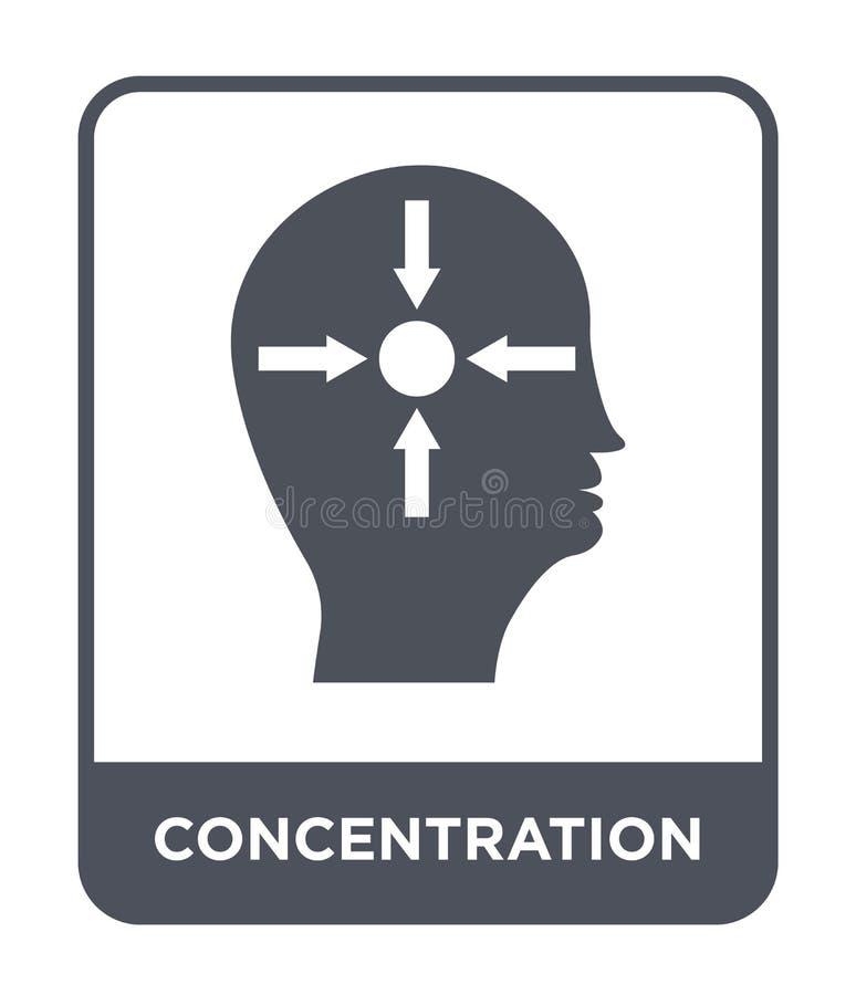 Konzentrationsikone in der modischen Entwurfsart Konzentrationsikone lokalisiert auf weißem Hintergrund Konzentrationsvektorikone lizenzfreie abbildung