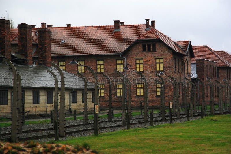 Konzentrationslager Auschwitz lizenzfreie stockbilder