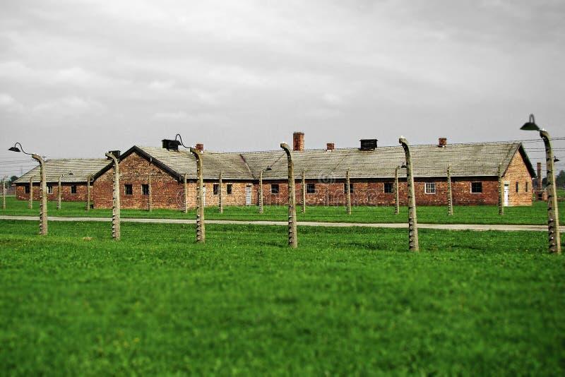Konzentrationslager - Auschwitz-Birkenau, Geschichte lizenzfreie stockfotos