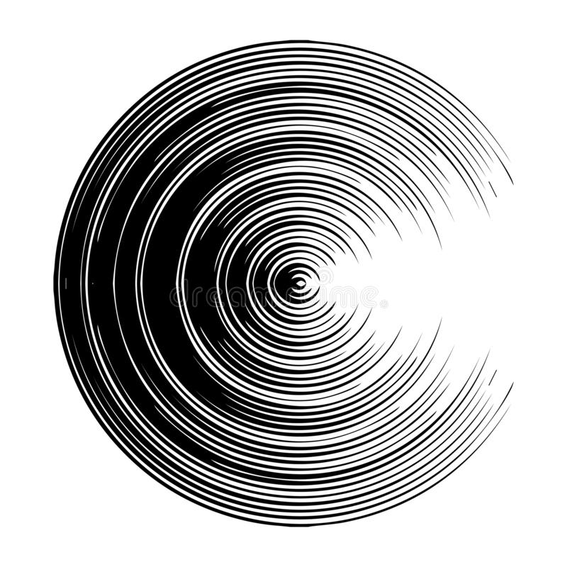 Konzentrisch, Kreis ausstrahlend stock abbildung