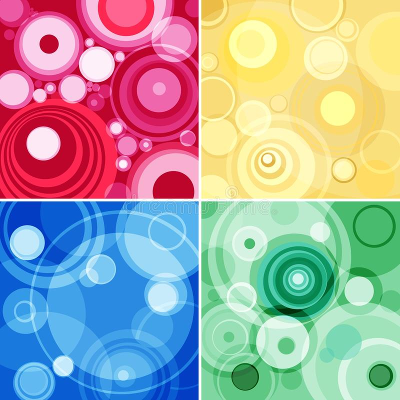Konzentrische Kreise stock abbildung