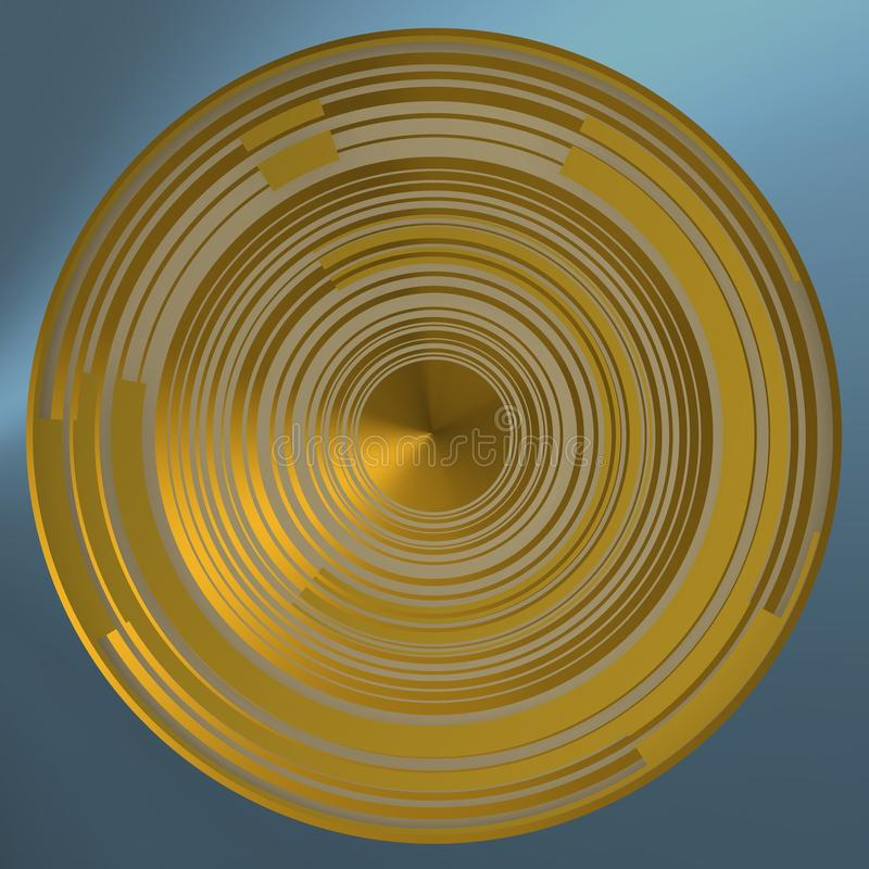 Konzentrische Kreise mit hellen Segmenten lizenzfreie stockbilder