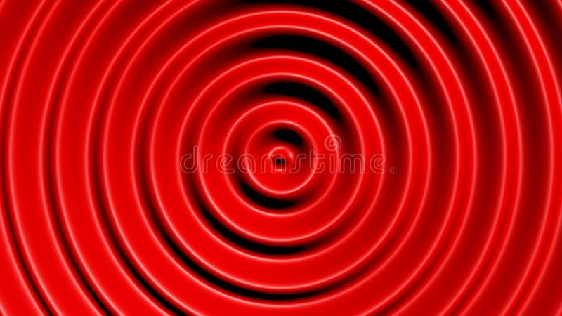 Konzentrische Kreise mit hypnotischem Effekt stockbild