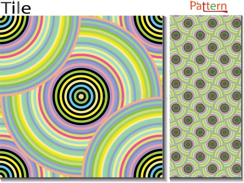 Konzentrische Ringe entziehen Sie Hintergrund Computererzeugter Vektor vektor abbildung