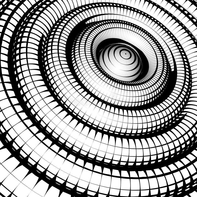 Konzentrische Rohre schattiert mit Schachbrettmusterschwarzweiß lizenzfreie abbildung