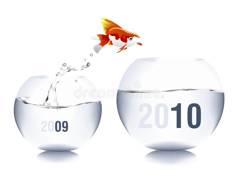 Konzept 2010 stock abbildung
