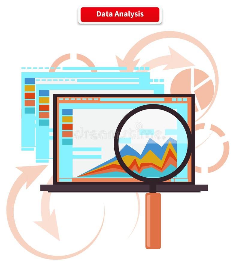 Konzept-Analyse-und Daten-Analytik stock abbildung