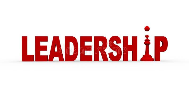 Konzept 3d der Führung stock abbildung