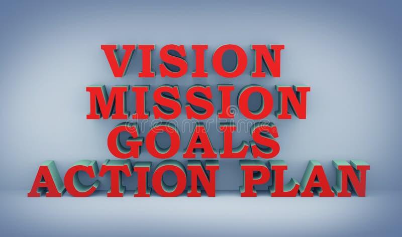 Konzept 3d des Aktionsplans lizenzfreie abbildung