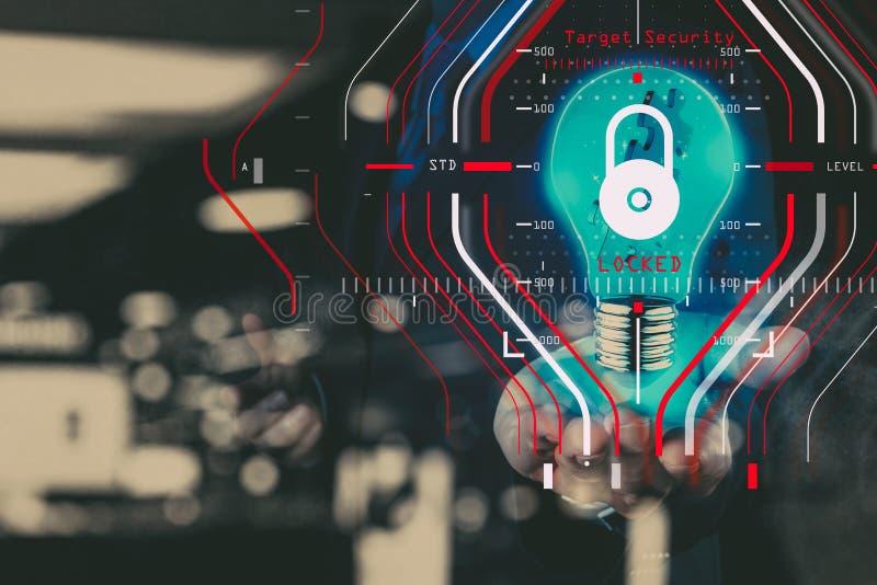 Konzept der allgemeine Daten-Schutz-Regelung GDPR und der Sicherheit C stockbilder