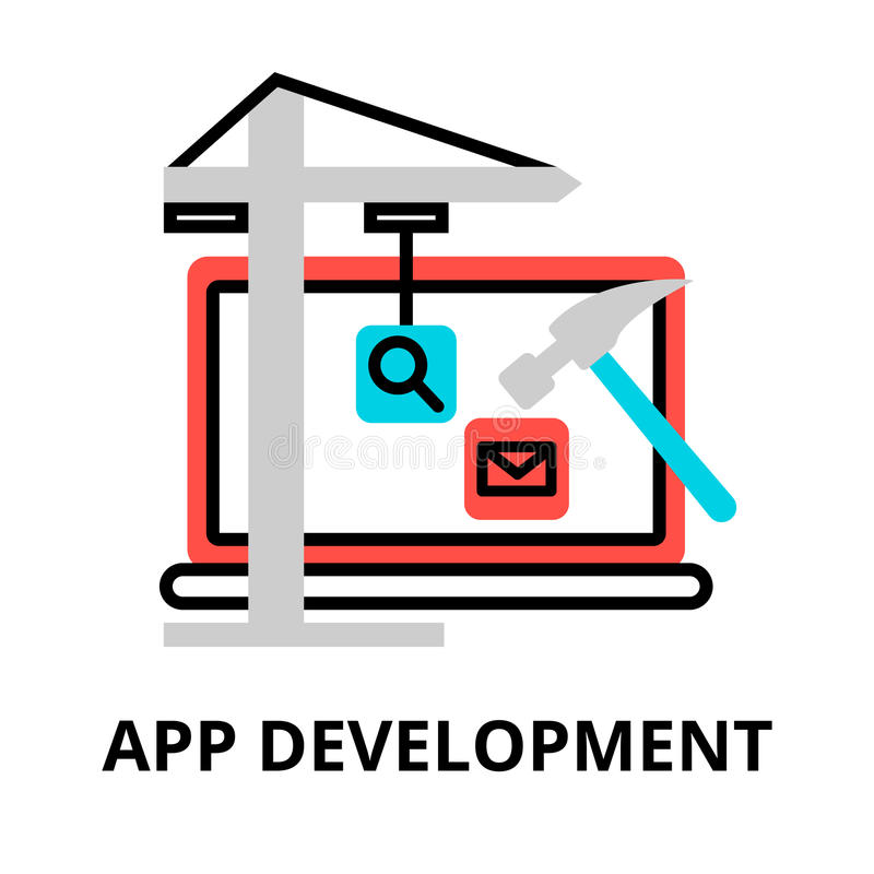 Konzept der APP-Entwicklungsikone lizenzfreie abbildung