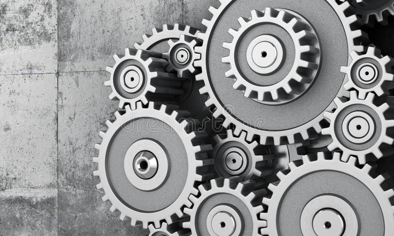 Konzept der Arbeit stock abbildung