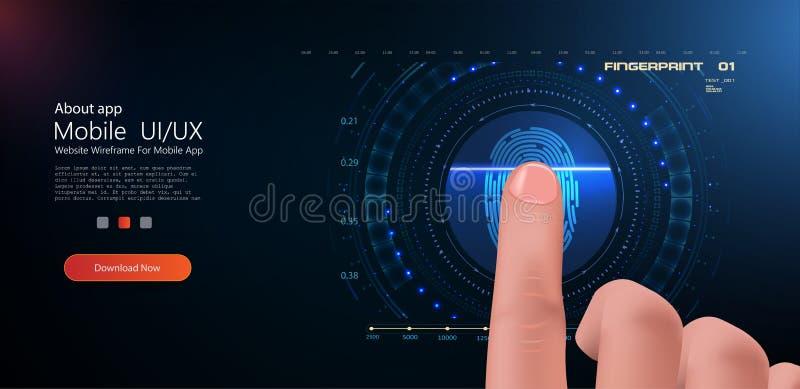 Konzept der biometrischer und Sicherheitstechnik stock abbildung