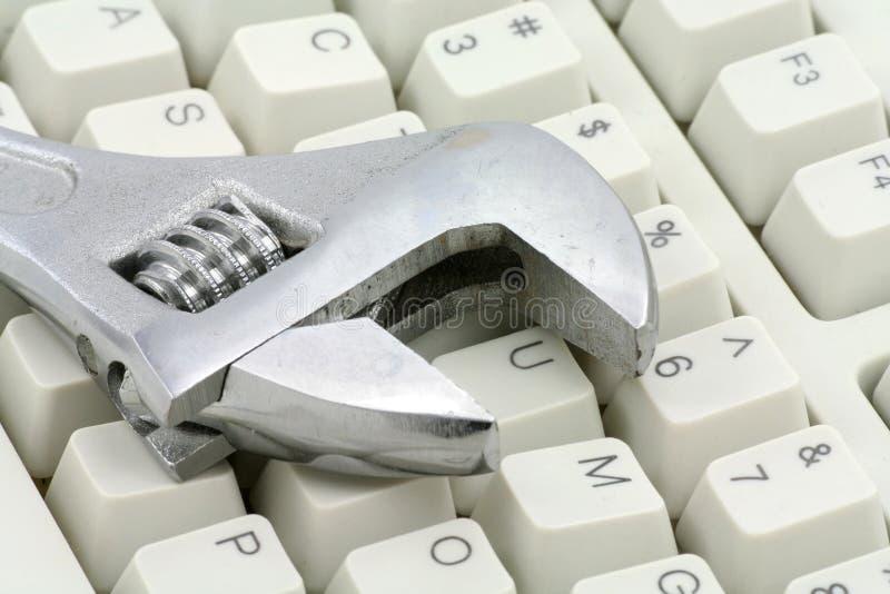 Konzept der Computerreparatur stockbilder