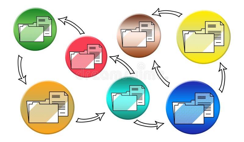 Konzept der Daten?bertragung lizenzfreie abbildung
