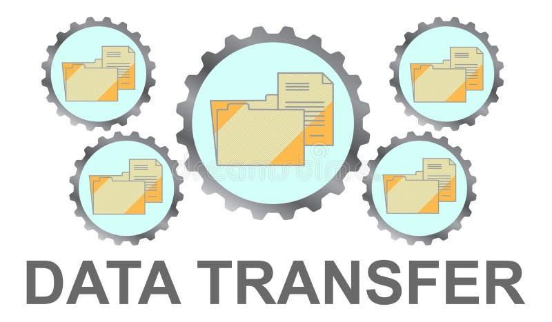 Konzept der Daten?bertragung stock abbildung