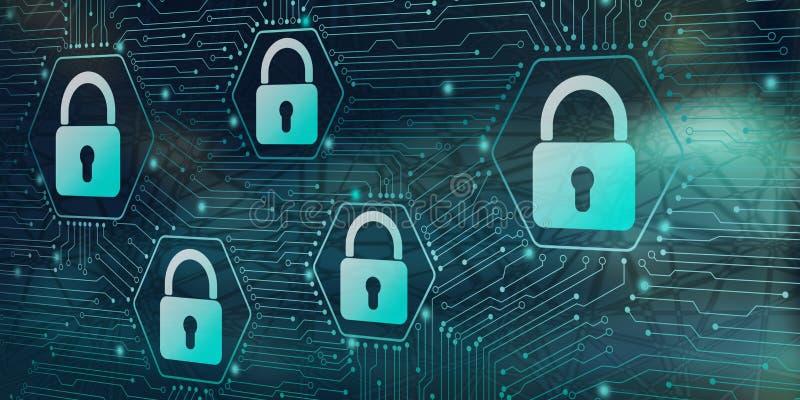 Konzept der Datensicherheit stock abbildung