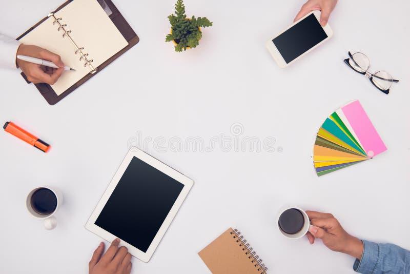 Konzept der Designerteamwork Gruppe Geschäftsleute Planung stockbilder