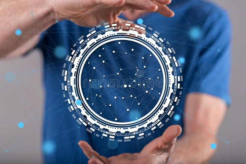 Konzept der Digitaltechnik stockfoto