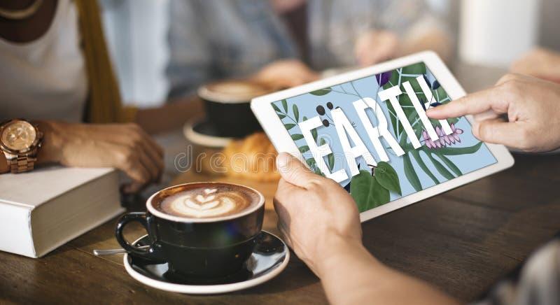 Konzept der Erdbetriebsökologie-Umwelt-natürlichen Ressourcen lizenzfreies stockfoto