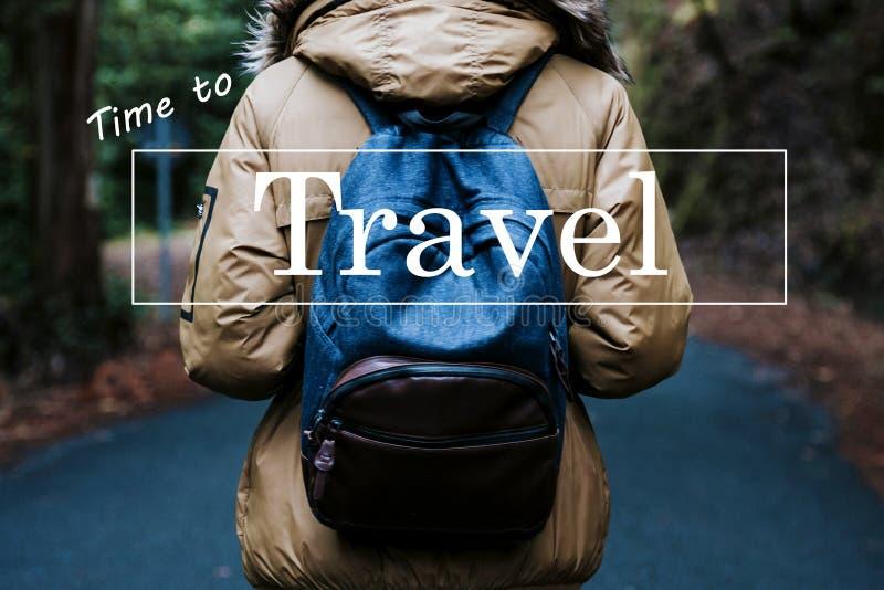 Konzept der Fahrzeit und des Abenteuers stockbild