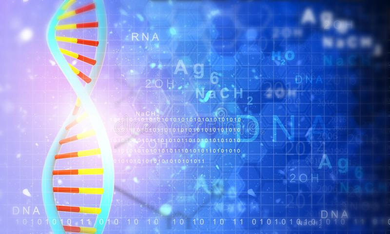 Konzept der genetischen Wissenschaft lizenzfreie abbildung