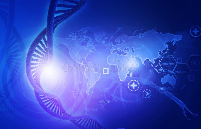 Konzept der genetischen Wissenschaft stock abbildung