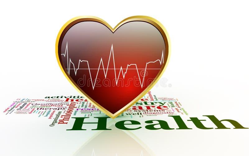 Konzept der Gesundheitspflege. stock abbildung