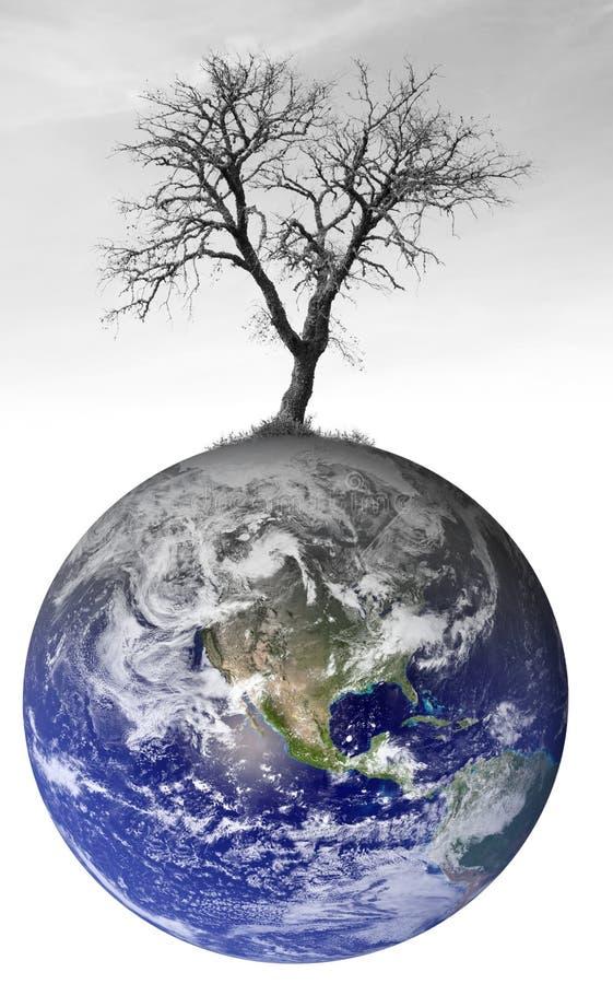 Konzept der globalen Erwärmung lizenzfreie stockfotografie