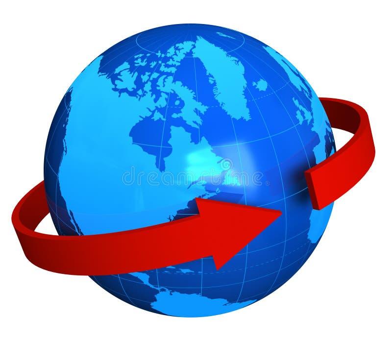Konzept der globalen Kommunikation lizenzfreie abbildung