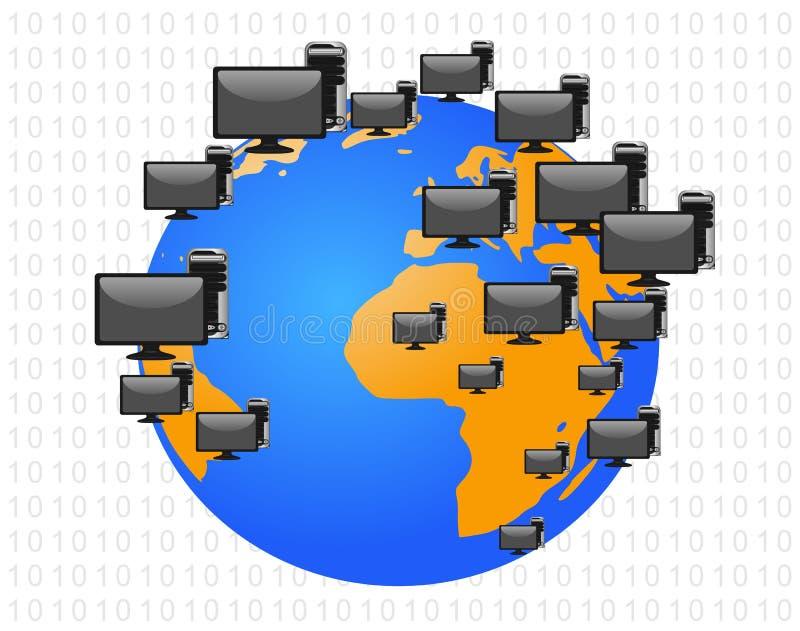 Konzept der globalen Kommunikation vektor abbildung