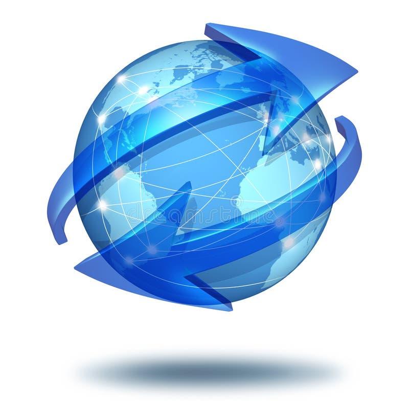 Konzept der globalen Kommunikationen lizenzfreie abbildung