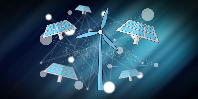 Konzept der gr?nen Energie lizenzfreie abbildung