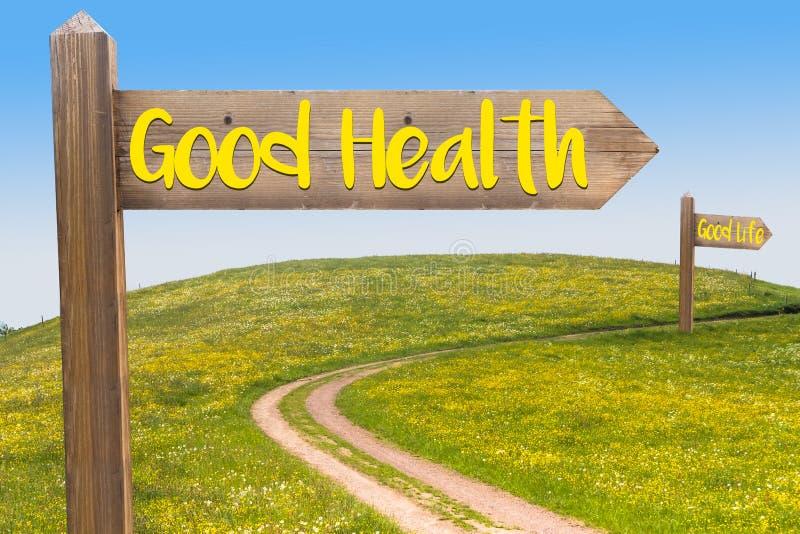 Konzept der guten Gesundheit lizenzfreie stockbilder