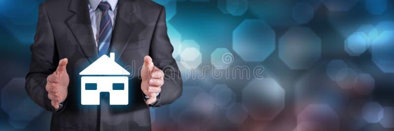 Konzept der Hausversicherung lizenzfreies stockfoto