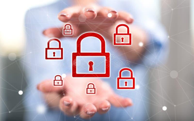 Konzept der Internetsicherheit lizenzfreie stockfotos