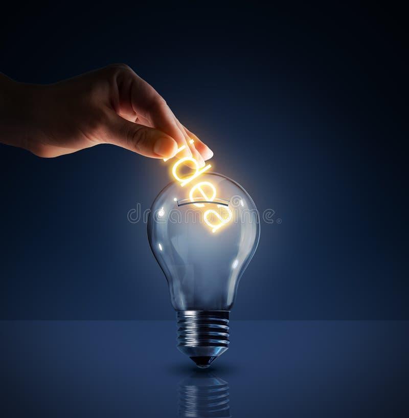 Konzept der Investierung in ihren Ideen stockfotos