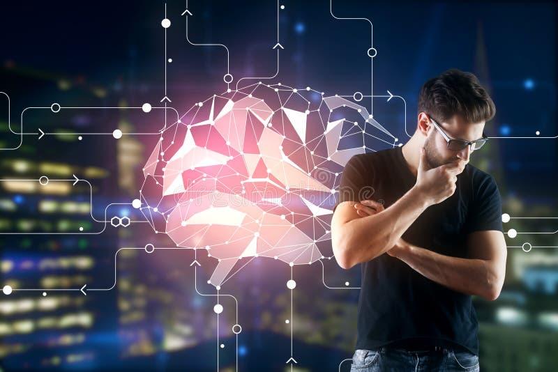Konzept der künstlichen Intelligenz stockfotografie