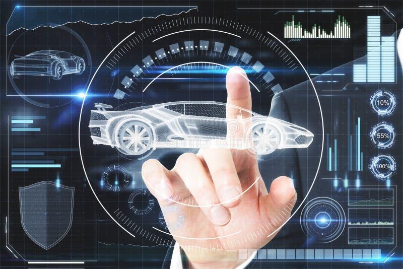 Konzept der künstlichen Intelligenz, des Transportes und der Zukunft lizenzfreie abbildung