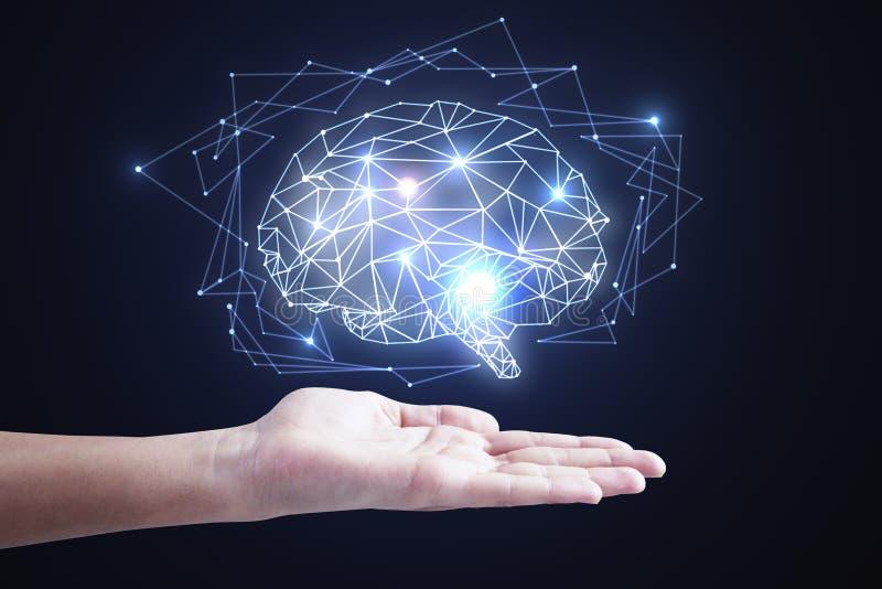 Konzept der künstlichen Intelligenz und des Netzes stockfotografie