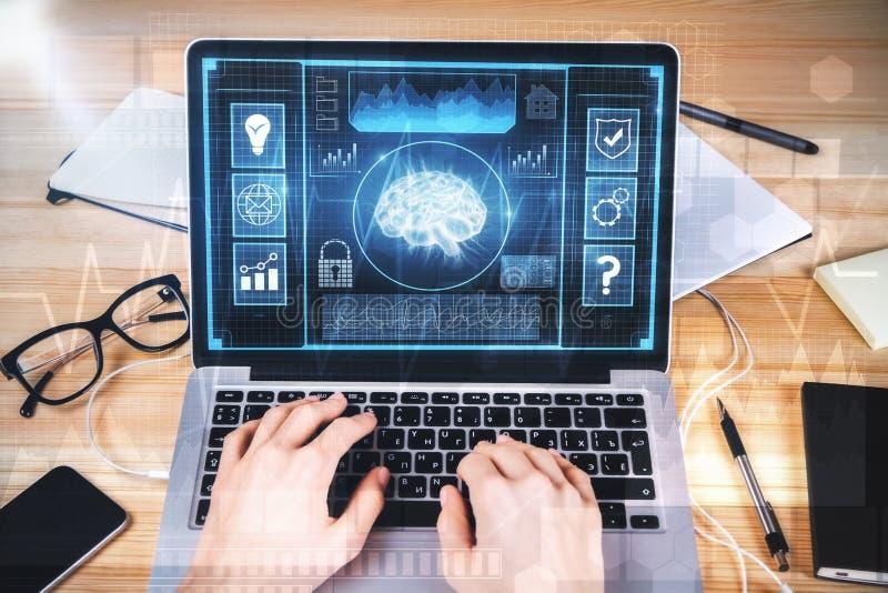 Konzept der künstlichen Intelligenz und der Finanzierung lizenzfreie stockfotografie