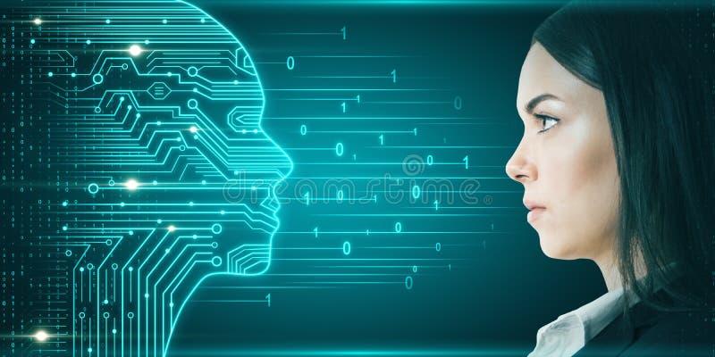 Konzept der künstlichen Intelligenz und der Innovation stockfotos