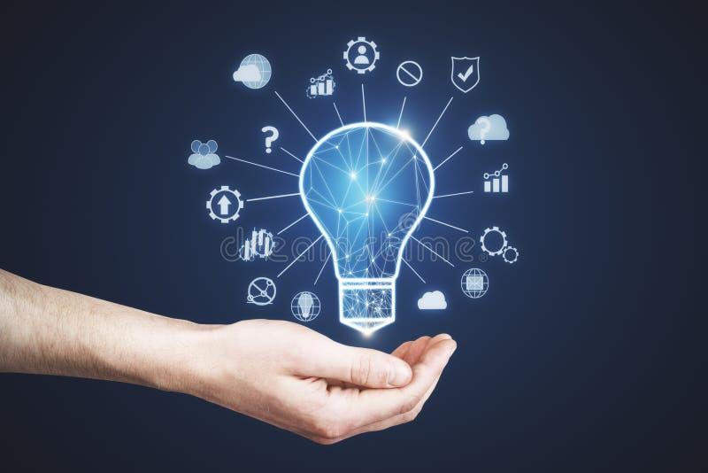 Konzept der künstlichen Intelligenz und der Wissenschaft lizenzfreies stockfoto