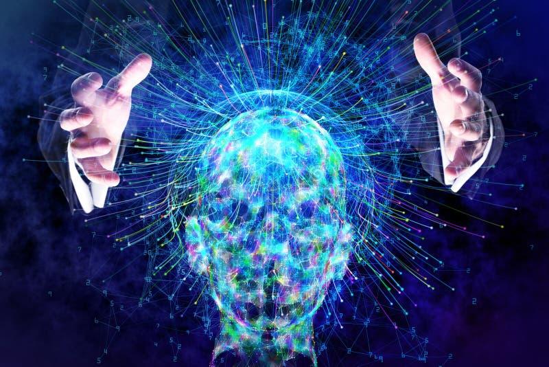 Konzept der künstlichen Intelligenz und der Zukunft lizenzfreies stockbild