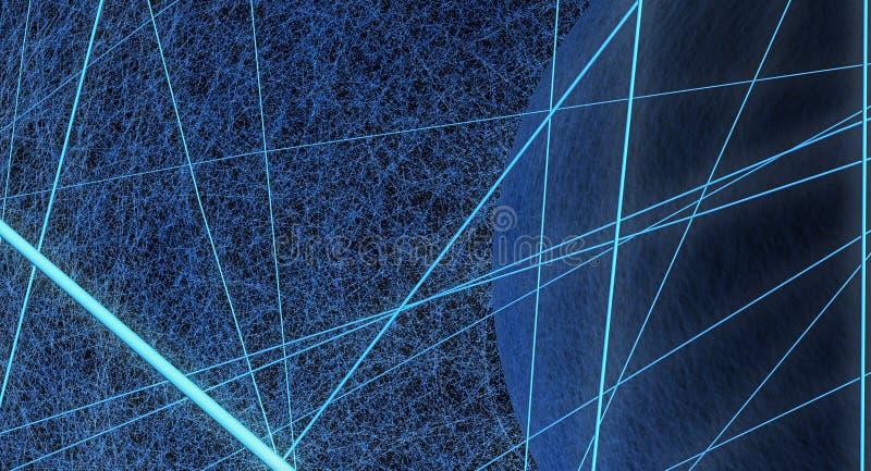 Konzept der kosmischen Strahlungen stock abbildung