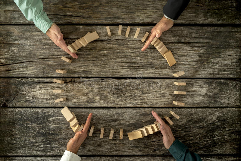 Konzept der Krisenlösung und des Problemmanagements stockfotos