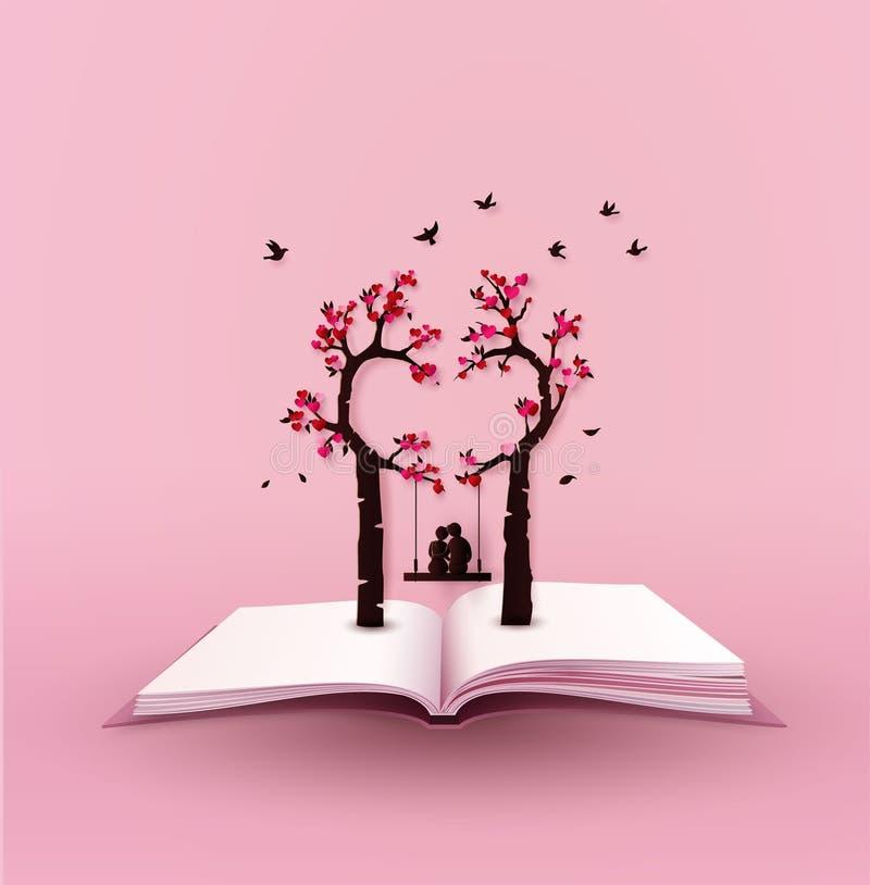Konzept der Liebe und des Valentinstags lizenzfreie abbildung