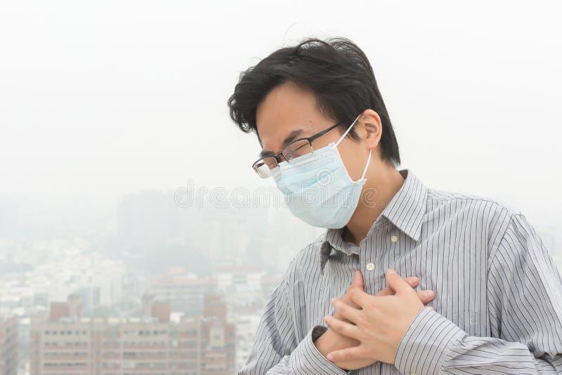 Konzept der Luftverschmutzung lizenzfreies stockbild