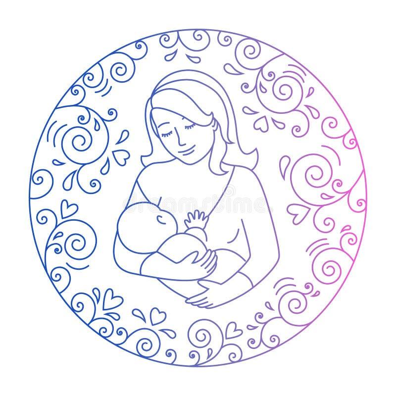 Konzept der Mutterschaft lizenzfreie abbildung