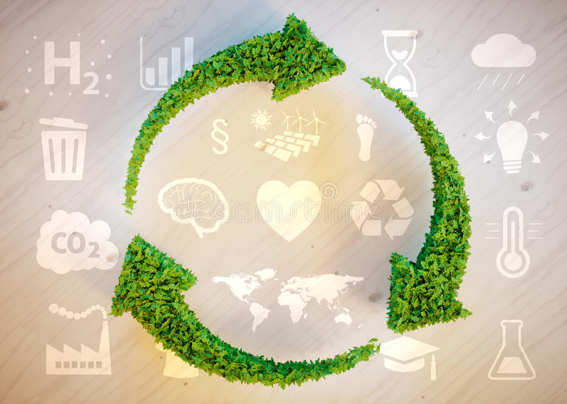 Konzept der nachhaltigen Entwicklung stock abbildung
